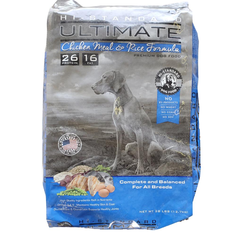 Hi-Standard Ultimate Chicken Meal & Rice Formula Dog Food, 28 lb Bag