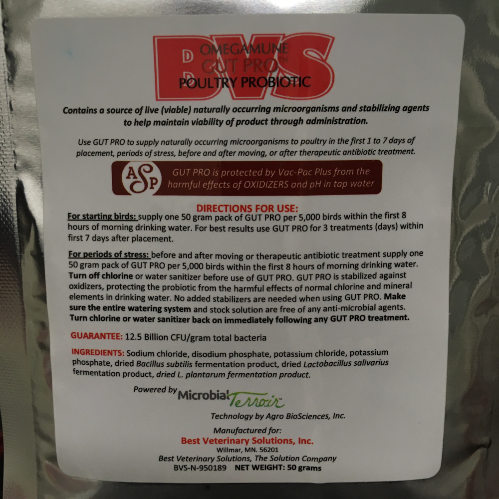 Omegamune Gut Pro Poultry Probiotic, 2-ounce