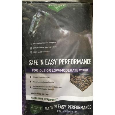 Buckeye Safe N Easy Performance Horse Feed, Special Order