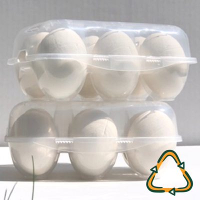 6-Egg Split Recyclable Egg Carton