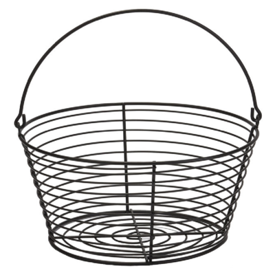 Coated Metal Egg Basket, 8 Dozen Capacity