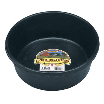 Rubber Feed Pan, 4-quart