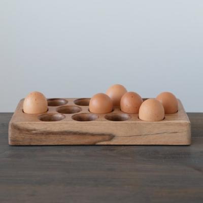 Acacia Wood Egg Tray