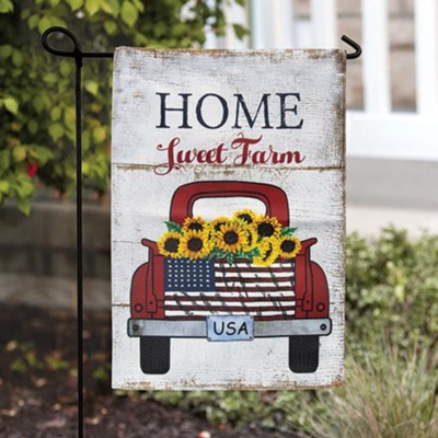 Home Sweet Farm Garden Flag