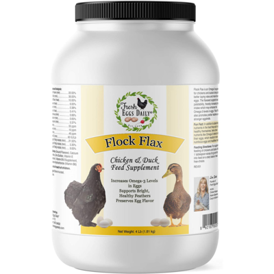 Fresh Eggs Daily Flock Flax 4-pounds