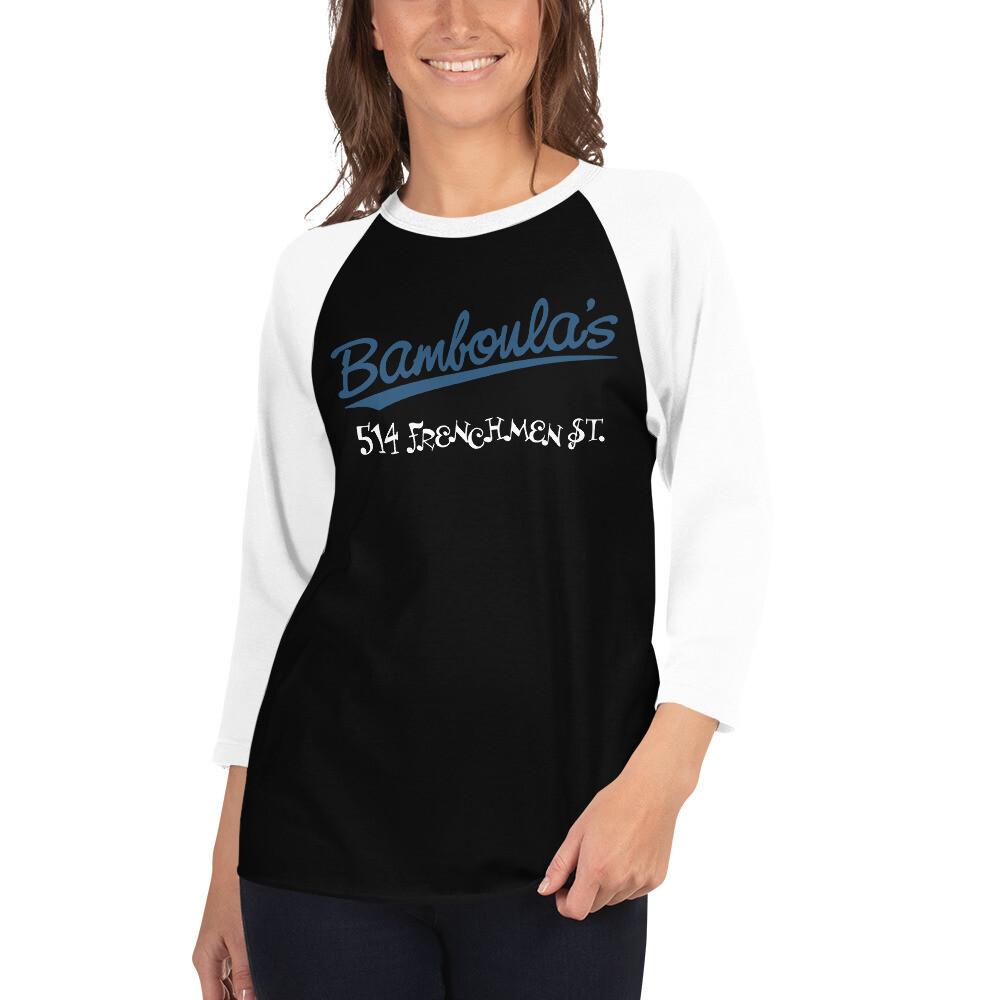 Bamboula's Classic Baseball 3/4 T-shirt