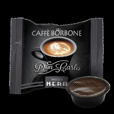 100 Caffè BORBONE Don Carlo - miscela NERA - Compatibile A MODO MIO