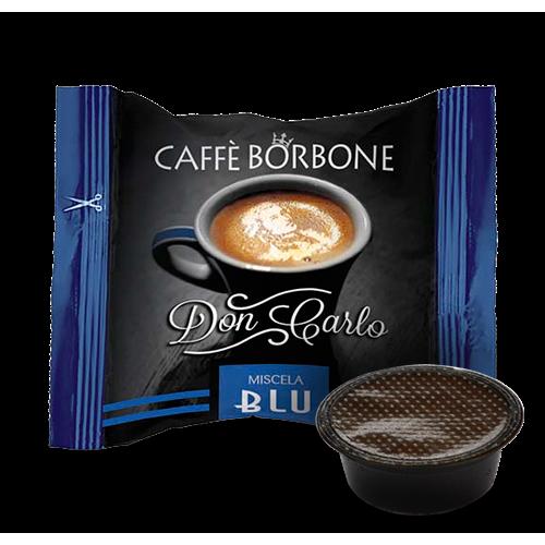 100 Caffè BORBONE Don Carlo - miscela BLU - Compatibile A MODO MIO