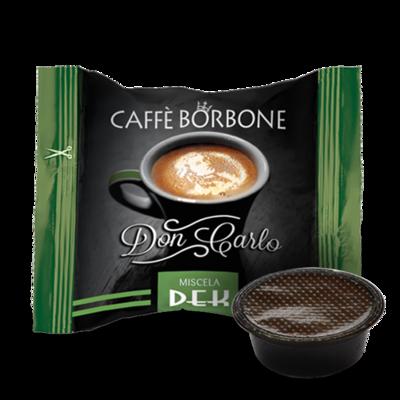 100 Caffè BORBONE Don Carlo - miscela DEK - Compatibile A MODO MIO