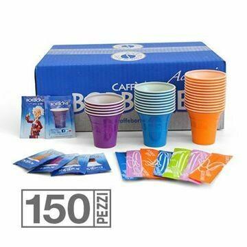 Kit 150 Bicchieri Palette e Zucchero Borbone
