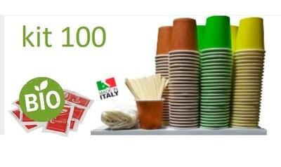 Kit 100 Bicchieri Palette e Zucchero BIO