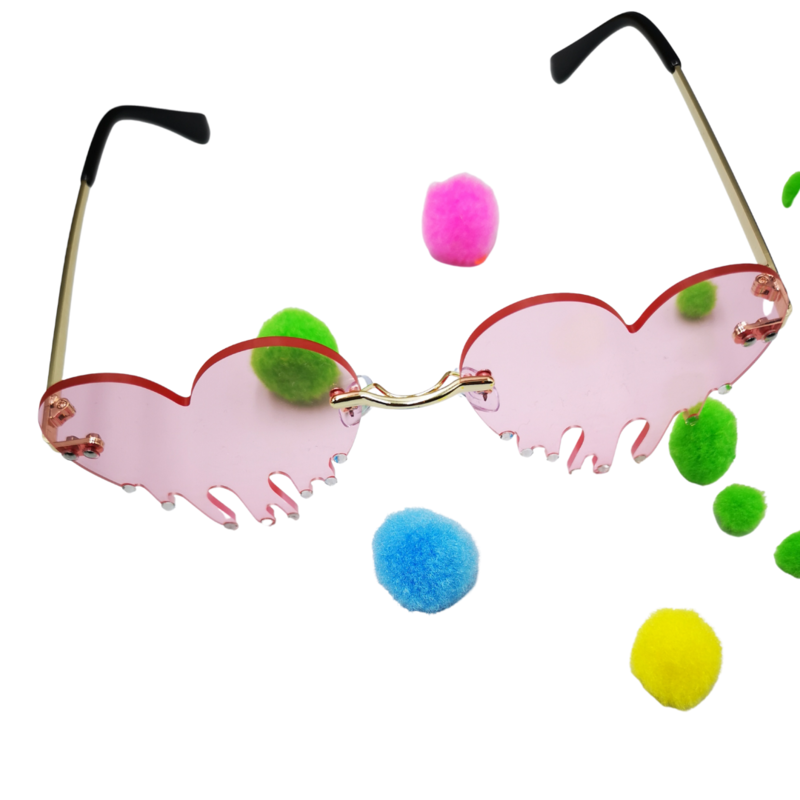 Dripping heart sunglasses