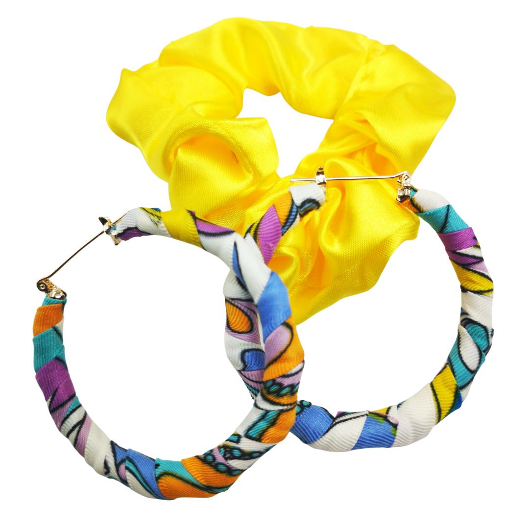 Dream earring/scrunchie set