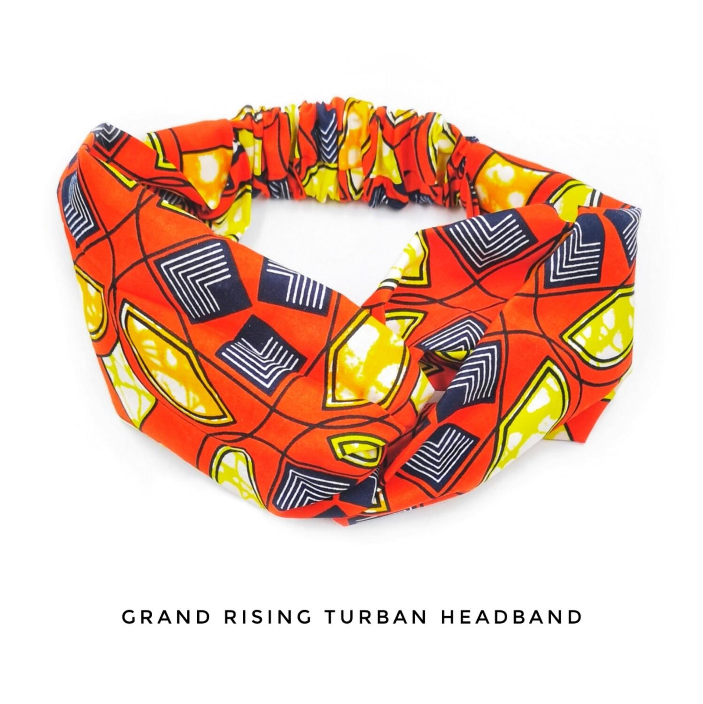 Grand rising turban headband