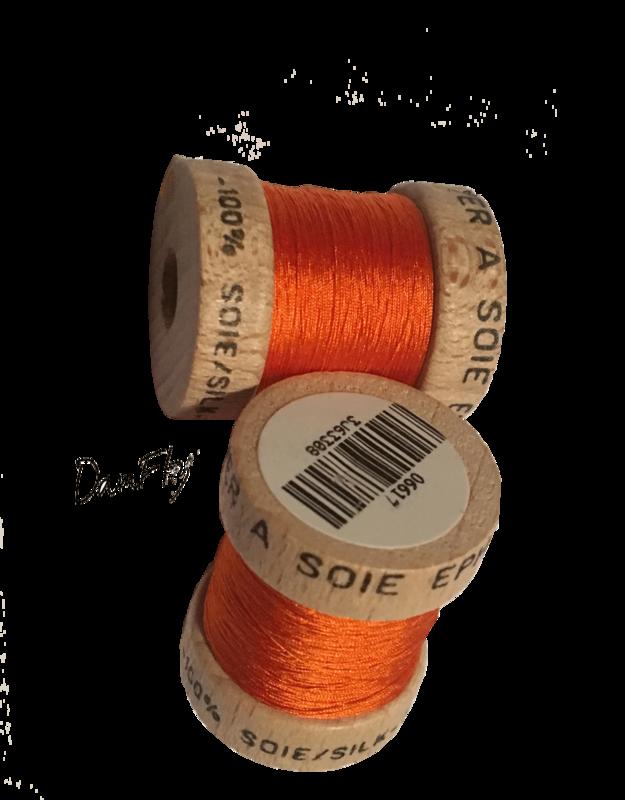 Soie Ephemera-Orange