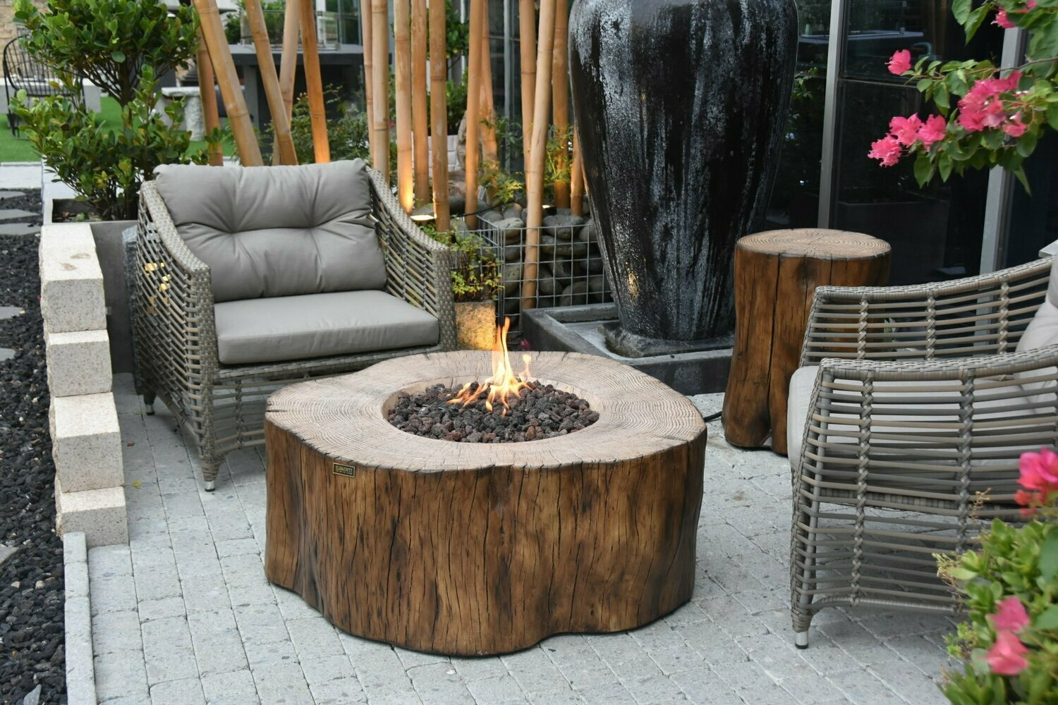 Picture of: Burning Stump Fire Table