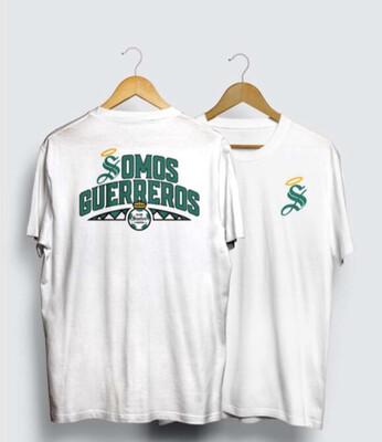 Camiseta Blanca Somos Guerreros Santos