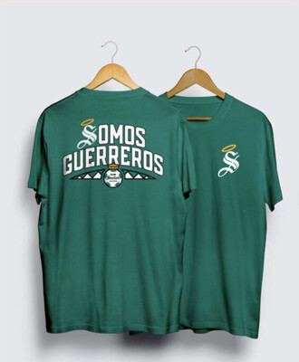 Camiseta Verde Somos Guerreros Santos