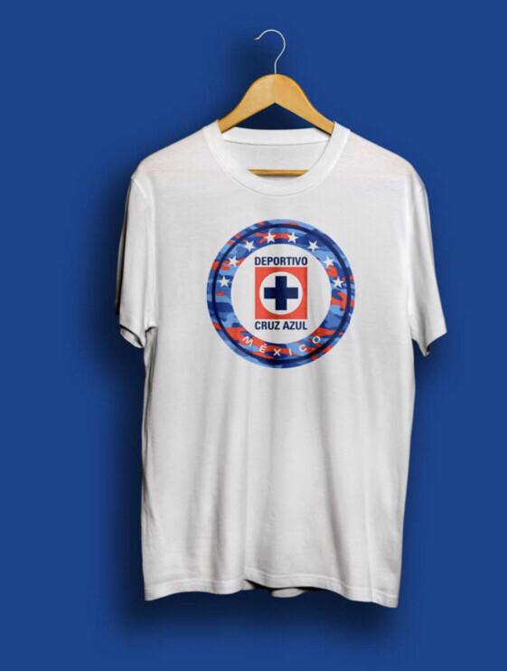 Camiseta Blanca Cruz Azul