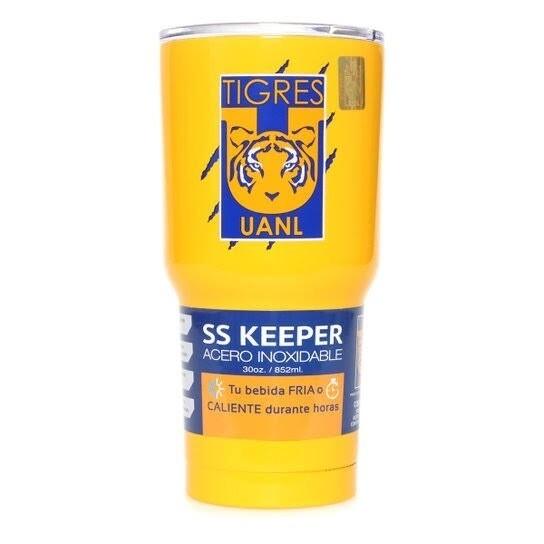Termo Amarillo Tigres 30 OZ