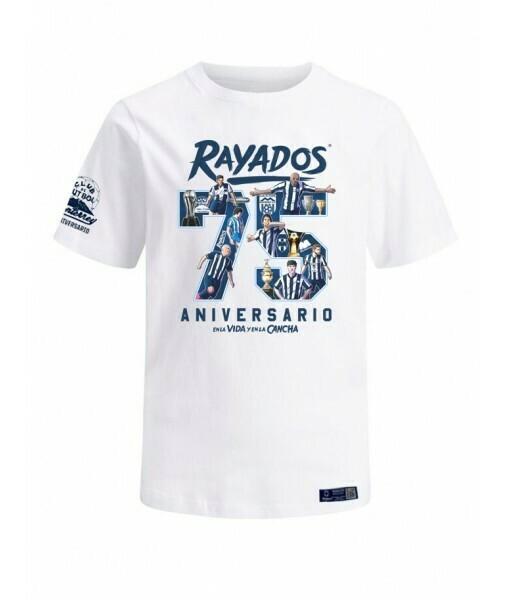 Camiseta Rayados 75 aniversario