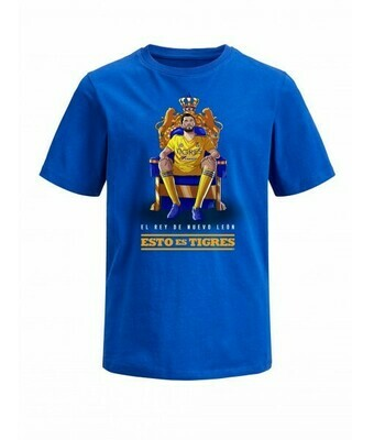 Camiseta Azul Tigres Gignac Rey de N.L