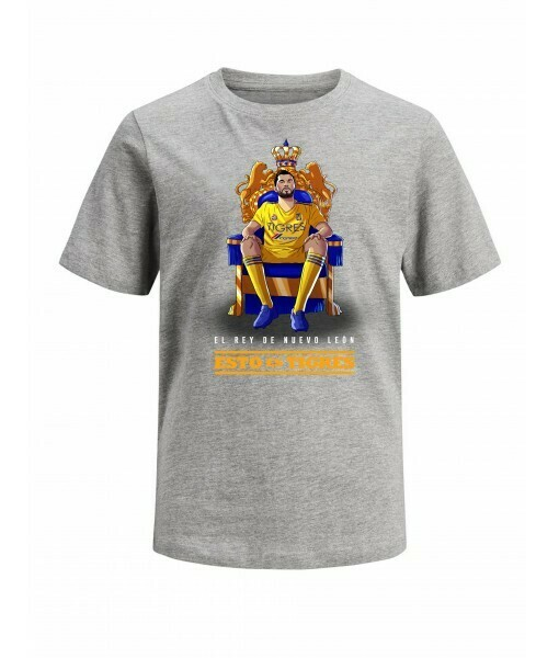Camiseta Gris Tigres Gignac Rey de N.L