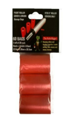 """RollerBagger 3 Pack Refill Plastic Bags for 9"""" Roller Covers"""