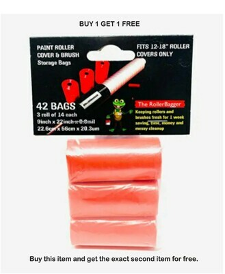 BUY 1 Get 1 FREE! RollerBagger 3 Pack Refill Plastics Bags for 12