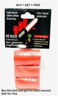 BUY 1 GET 1 FREE! RollerBagger 3 Pack Refill Plastic Bags for 9