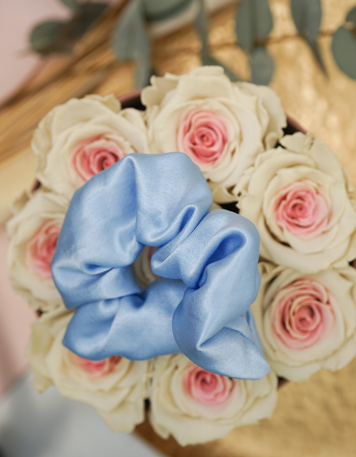 Scrunchie Satin Babyblue