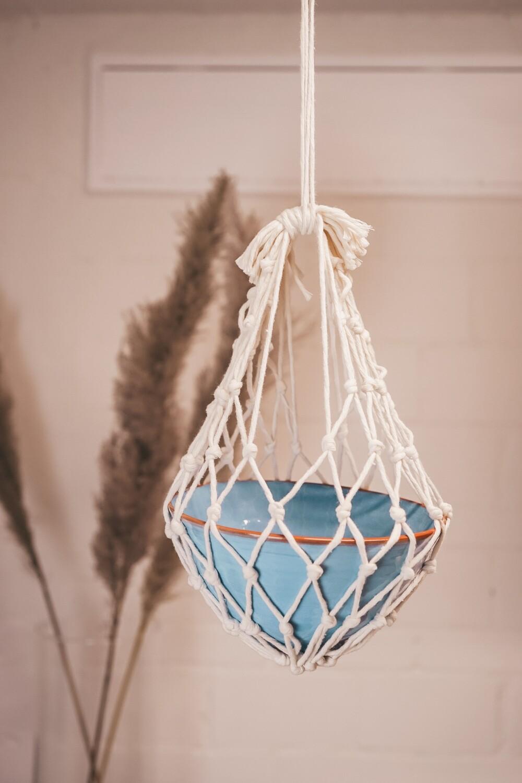 Macramee hanging basket