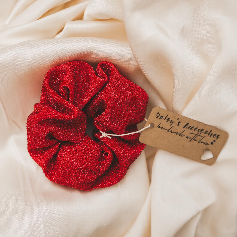 Scrunchie Red Glitter