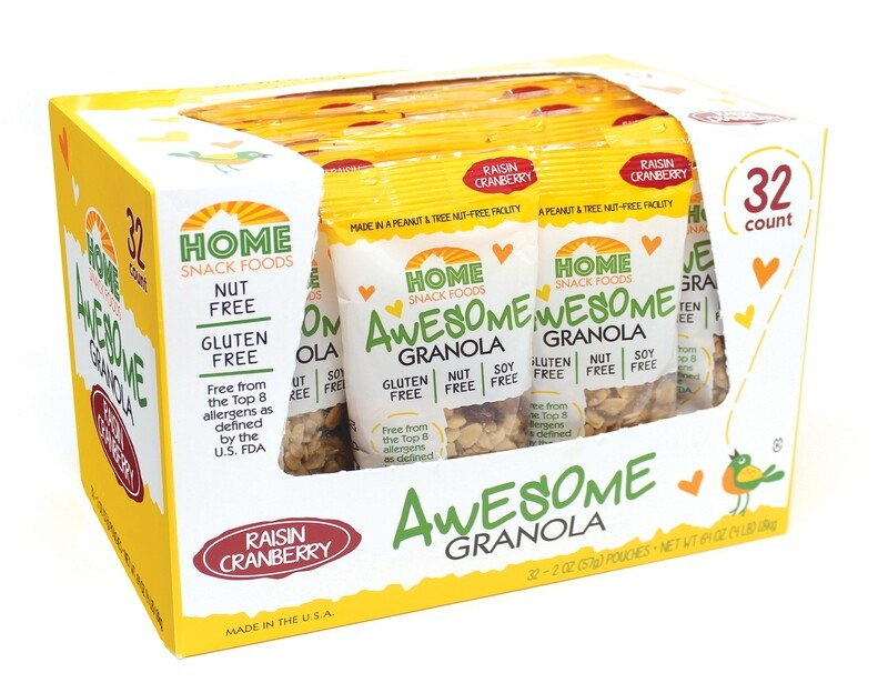Awesome Granola - Raisin/Cranberry - 32-pack, 2.0 pouches