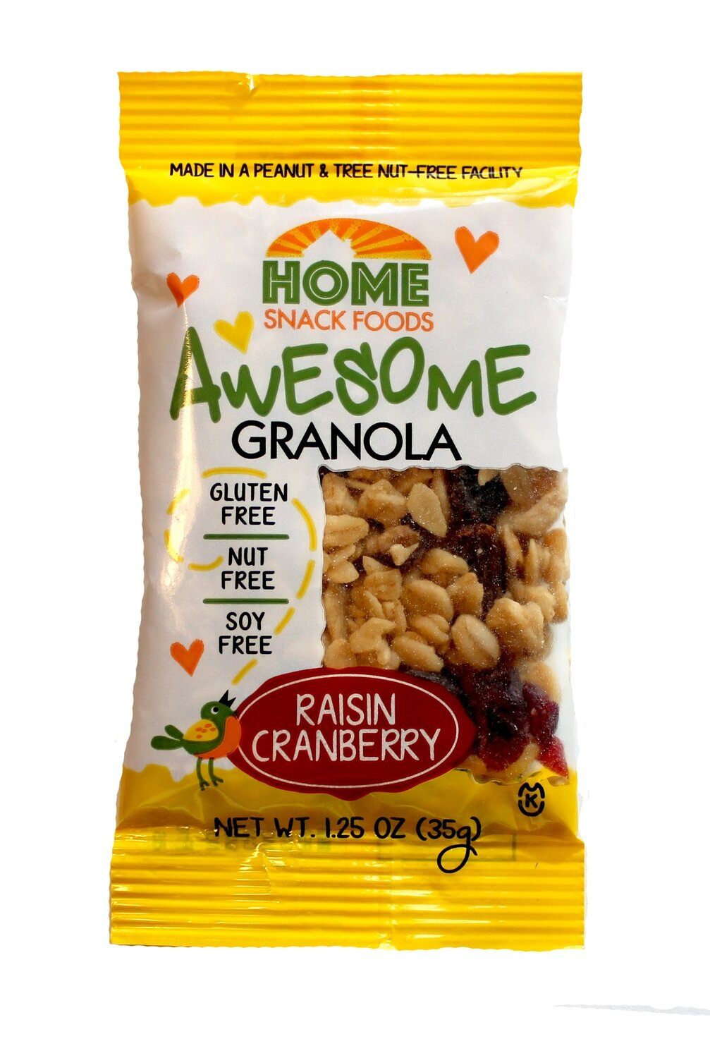 Awesome Granola - Raisin Cranberry 12 Pack - 1.25 oz