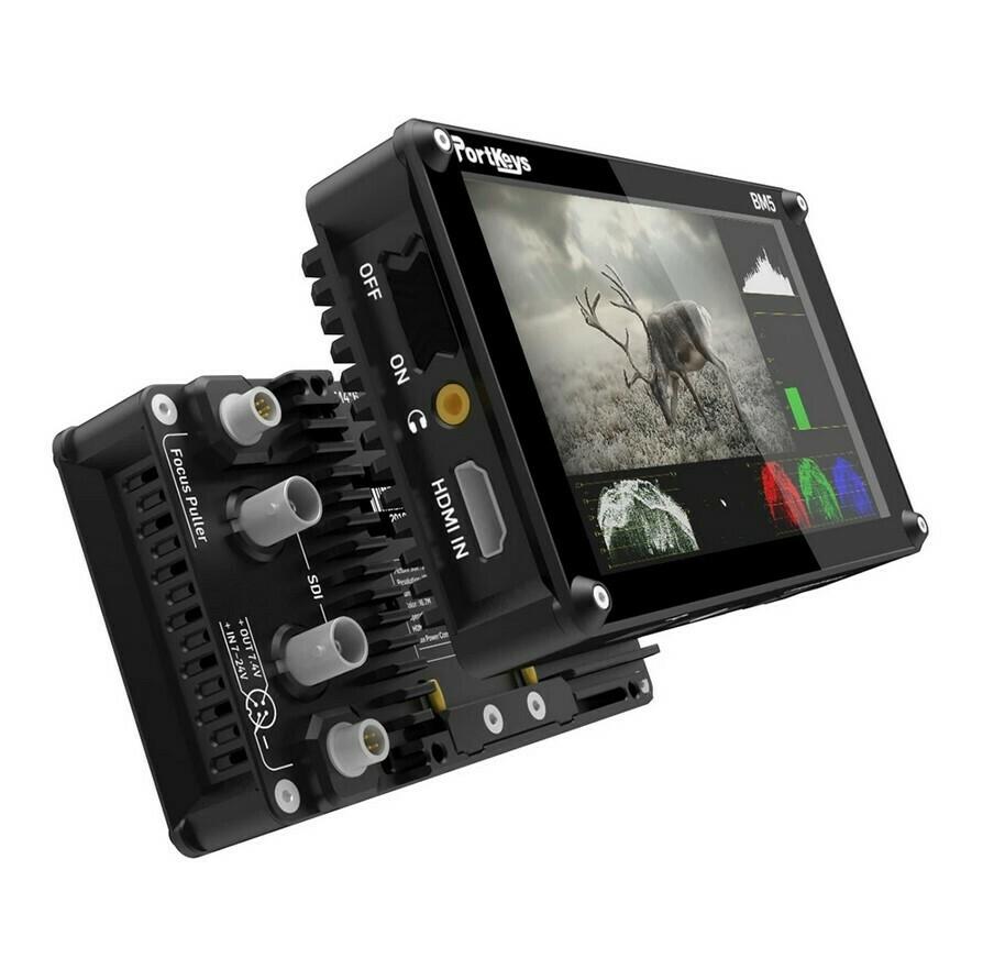 "PortKeys BM5 II 2200 NIT 3G-SDI HDMI Touch Screen 5.2"" On Camera Monitor"
