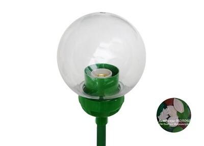 Плафон с зелёным переходником 15см Прозрачный