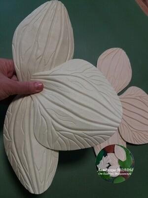 Молды (3шт) Набор Лепестков Орхидеи 15х14см, 17х10см, 16х8см
