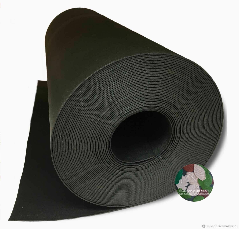 Изолон 1мм - Черный ширина 100см