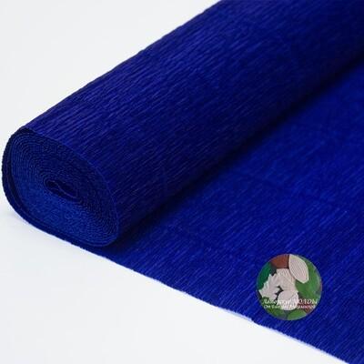 Бумага гофрированная    Cartotecnica Rossi 555 темно-синяя, 50 см х 2,5 м