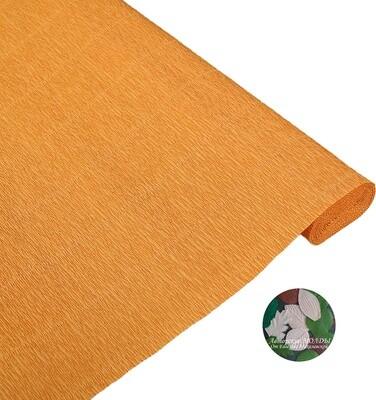 Бумага гофрированная   Cartotecnica Rossi 610,  оранжевый, 50 см х 2,5 м