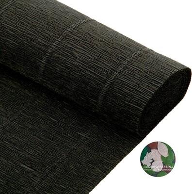 Бумага гофрированная   Cartotecnica Rossi 602, черный, 50 см х 2,5 м
