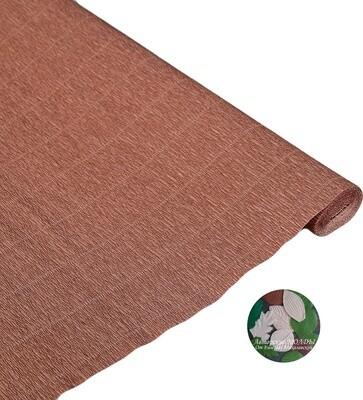 Бумага гофрированная   Cartotecnica Rossi 613, коричнево-розовый, 50 см х 2,5 м