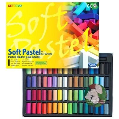 Набор пастели сухой MUNGYO, 64 цвета - мягкая, квадратная 12 длины