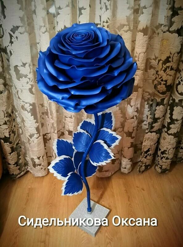 Мастер-класс роза Небесная лазурь