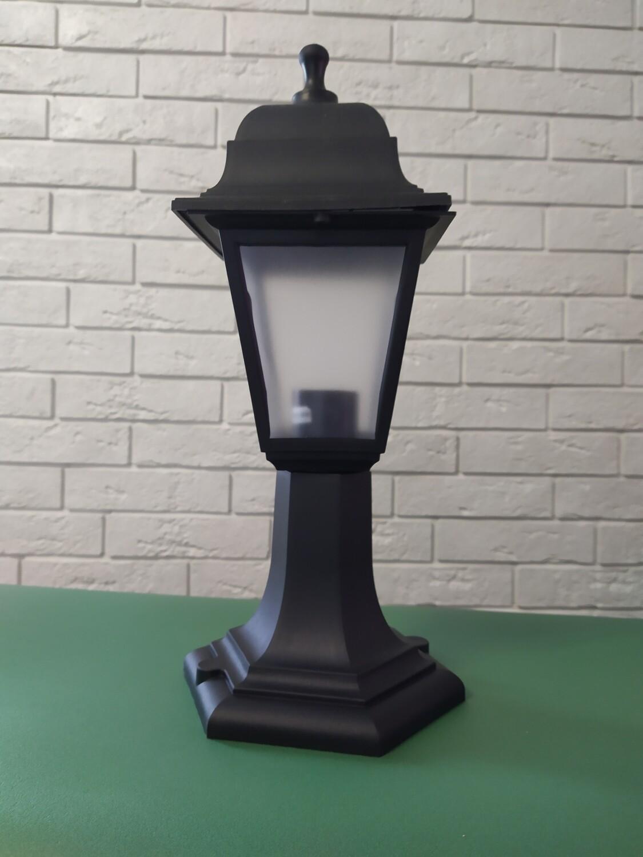 Светильник четырехгранный, Чёрный, столбик