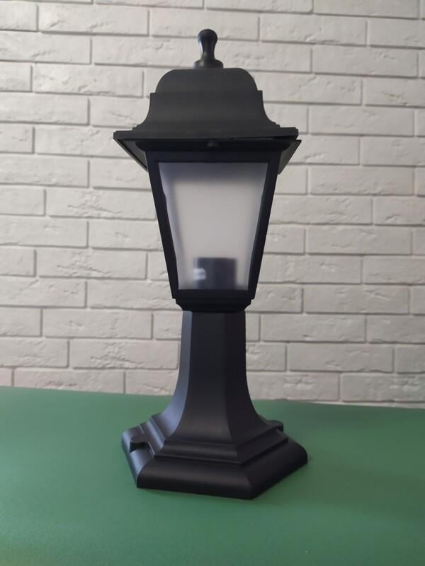 Светильник садовый плафон 1xE27x60 Вт, пластик, цвет чёрный..
