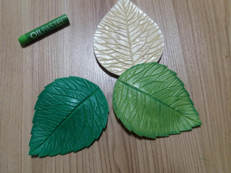 Молд Лист Розы 11,5×8,5см