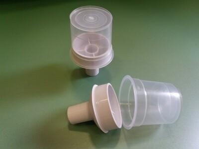 Пластиковый Контейнер 7х11см плафон с белым переходником на 20ю трубу