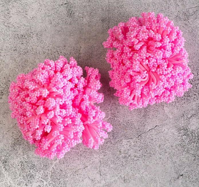 Круглые тычинки для цветов,розовый Бумага,текстиль